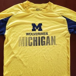 Michigan Wolverines Yellow Tshirt M